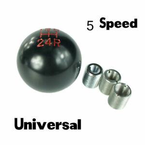 Car 5 Speed Manual Gear Stick Shift Knob Lever Shifter Aluminum Black Universal