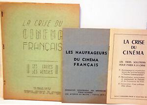 """RARES documents CORPORATIFS """" LA CRISE DU CINEMA """" - 1951/52 - collector"""