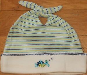 NEW Vintage 2001 GYMBOREE Turtle Swimmers BEANIE Tie Knot Cap HAT NB 0-3 mo NWT