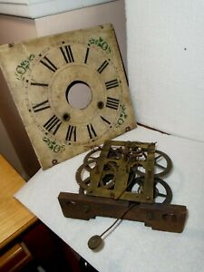 Antique-Sperry-Weight-OG Clock Movement-To Restore-#F340
