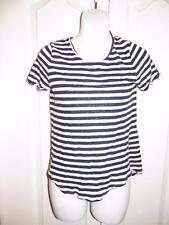 LUCKY BRAND Heathered Striped BUTTON BACK Shirt Small