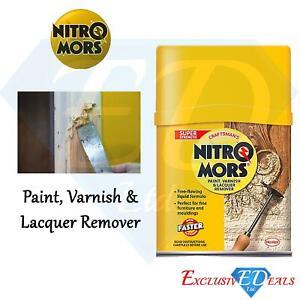 Nitromors Paint Varnish Remover Yellow 375ml Super Strength Liquid Formula