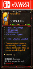 Diablo 3 [SOFTCORE] Nintendo Switch - Primal Karlei's Point Weapon