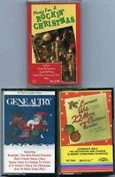 Lot of 3 Christmas cassette tapes Gene Autry Lawrence Welk The Beach Boys rockin