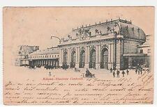 CARTOLINA 1898 MILANO STAZIONE CENTRALE RIF. 15107