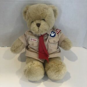 """Build A Bear Workshop Boy Scout Plush Teddy Bear With Shirt And Tie 14"""""""