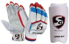 Sg Combo two one pair Super Club'batting gloves R/H and 1 Super Test Elbow Guard