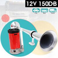150dB 12V Single Trumpet Air Horn Compressor Kit For Car Truck Van Train