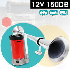 150dB 12V Single Trumpet Air Horn Compressor Kit For Car Truck Van Train Boat AU