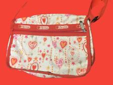 LeSportsac heart red shoulder bag crossbody dainty purse delicate adjustable