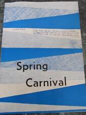 1955 SPRING CARNIVAL ILLINI UNION STUDENT ACTIVITIES BROCHURE ARMORY ANN ALLOWAY