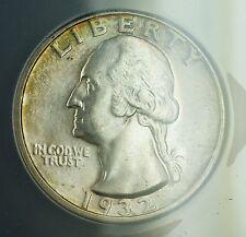 1932-D Silver Washington Quarter ANACS MS-61 (Better Coin SPL) Toned Key Date RF