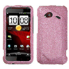 For HTC Droid Incredible 4G LTE Crystal Diamond BLING Case Phone Cover Pink
