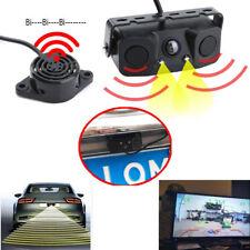 3 in 1 Car Parking Reversing Sensor Radar Rear View Backup Night Vision Camera