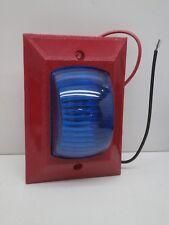 Space Age Electronics SSU00082, V-33-120AC-LAMP, Fire Alarm Lamp, Blue Lens