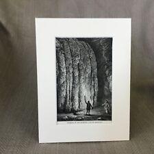 Mammoth Cave Kentucky Americana Victorian Antique Print  Ca. 1890