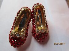 VINTAGE SPARKLING RED RHINESTONE RUBY WIZARD OF OZ DOROTHY SLIPPERS PIN/BROOCH