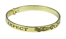4031227 4031227 Expect Miracles Hinged Bangle Bracelet Miracle Happens Pray For