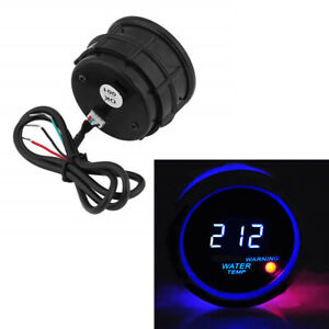 12V Car Vehicle 300 ℉ Water Temperature Gauge 52mm Blue LED Digital With Sensor