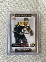 2019-20 CHRONOLOGY PATRICE BERGERON TIME CAPSULES TC-77 BOSTON BRUINS RIPPED
