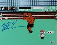 Mike Tyson Autographed 11x14 Nintendo Punch Out Photo - Beckett Auth *Blue