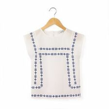 Abcd'r Girls Short-Sleeved Blouse, 3-12 Years White Size 12 Years. SA076 FF 36