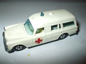 Matchbox Lesney Superfast #3 Mercedes Benz-Binz Ambulance thin wheels VNMINT!