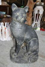 Handgearbeitete Gartenfiguren & -skulpturen mit Katzen-Motiv