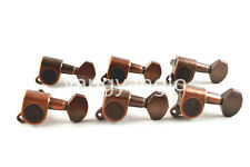 Vintage Bronze Electric Guitar Tuning Pegs Tuners Machine Head 6-In-Line 6R