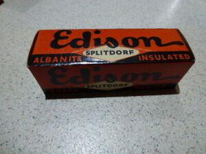 Vintage Edison Spark Plug in Box  . NOS