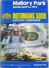 MALLORY PARK 1st Apr 1973 Motor Racing Official Programme Rothmans 5000