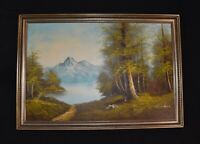 """ORIGINAL LANDSCAPE OIL IN CANVAS PAINTING SIGNED BY CHARDIN 39.5"""" x 27.5"""""""