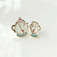 Beauty and The Beast Mrs Potts and Chip Stud Earrings Collectors Gift Uk Seller