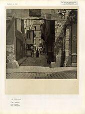 The Courtyard by C. H. L. Emanuel London Salon of P...Kunst- Photodruck von 1920