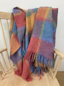 Avoca Handweavers Mohair Wool Plaid Blanket Ireland