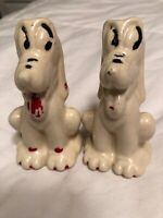 Vintage 1950's Walt Disney PLUTO Dog salt+pepper shakers