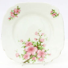 VINTAGE DECO Bone China Rose Floral Tea Plaque Latérale