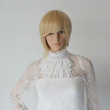 PERRUQUE LUXE BLONDE SEXY ADULTE FEMME WIGS CHEVEUX COURTS DéGUISEMENT PERRUCCA