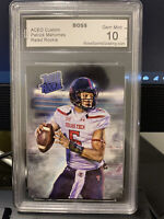 Patrick Mahomes ACEO Rated Rookie Gem Mint 10 Boss Grading