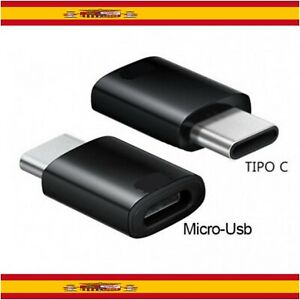 Adaptador Micro USB de 5 Pines Hembra a USB C Macho Carga y Datos