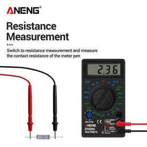 DT830G Digital Multimeter AC/DC Auto Ranging Handheld LCD Digital Multimeter