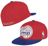 Los Angeles Clippers Mitchell & Ness Vintage Logo Fitted Hat Cap Red 2 Tone Nba