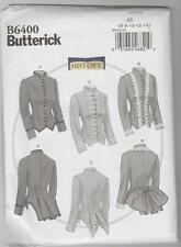 Butterick Sewing Pattern B6400 Making History - Victorian Boned Jackets Sz 6-14
