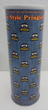 Vintage Pringles Can Empty w/ Lid Country Style Potato Chips Denim Look Can