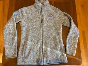 Patagonia Better Sweater Full Zip Fleece Heather Gray w/ Logo Women's Sz M EUC