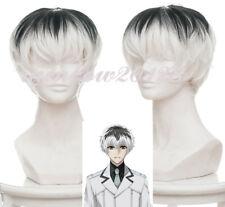 White Mixed Black Tokyo Ghoul Re Kaneki Ken Sasaki Haise Short Anime Cosplay Wig