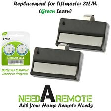 2 For Liftmaster 81LM Garage Door Remote Opener (1993-1997) Green Learn Button