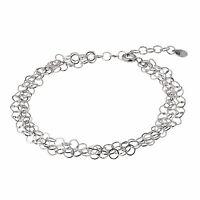 Ernstes Design Armband 18 - 21 cm A501 Stahl Schmuck 3 Fach ( 3-Reihig) Armkette