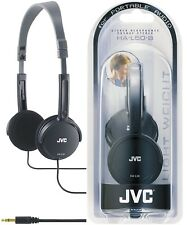 JVC HA-L50 BLACK Foldable Lightweight Stylish Stereo Headphones / Brand New