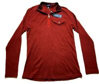 MADE By Cam Newton New Mens Red Front Pocket 1/4 Zip Shirt Size Small